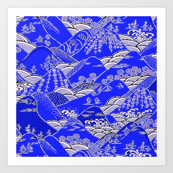 Japanese Mountains Print Kunstdrucke