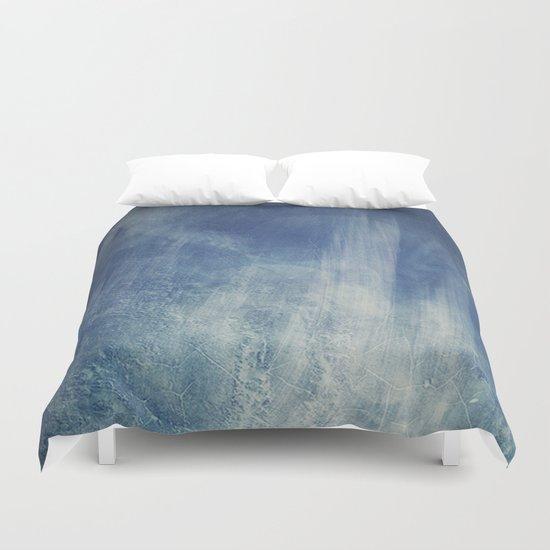 texture bleue Duvet Cover