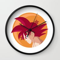 goku Wall Clocks featuring SSG Goku by CmOrigins