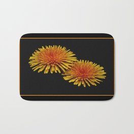 dandelion flying saucers Bath Mat