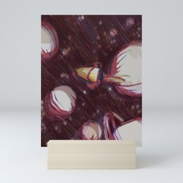 all the way up to space? Mini Art Print