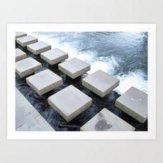 Stepping Stone Art Print