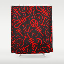 TØP Stickers - Red Shower Curtain