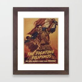 Vintage poster - The Fighting Filipinos Framed Art Print