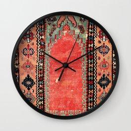 Sivas  Antique Cappadocian Turkish Niche Kilim Wall Clock