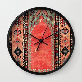 Sivas  Antique Cappadocian Turkish Niche Kilim Print Wall Clock