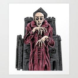 Nosferatu vampire classic horror black custome Art Print