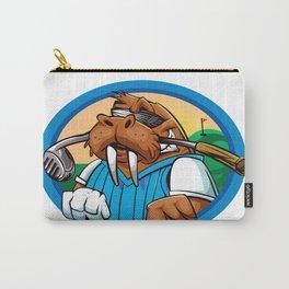 Cartoon walrus golf club Carry-All Pouch
