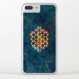 The Flower of Life Symbol Clear iPhone Case