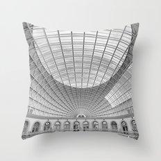The Corn Exchange Interior In Monochrome Throw Pillow