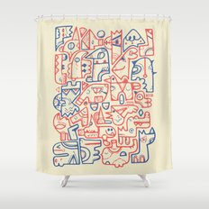Tribal Animals Shower Curtain