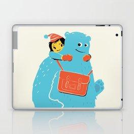 Blue-Monster Piggy-Ride Laptop & iPad Skin