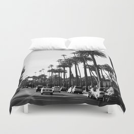 Los Angeles Black and White Duvet Cover