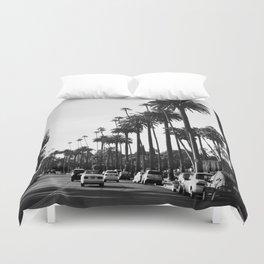 Los Angeles Black and White Duvet Cover
