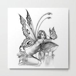 toadstool fairy Metal Print