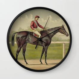 Grand Racer Kingston - Vintage Horse Racing Wall Clock