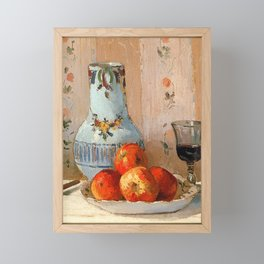 Apples & Wine (Detail) by C. Pissarro Framed Mini Art Print