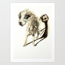 Tristan Corbière, Thick Black Trace, A mon chien Pope Art Print