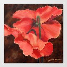 Red Poppy Three Canvas Print