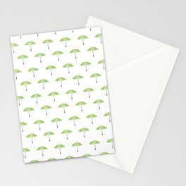 Emerald umbrella Stationery Cards