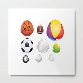Easter sport balls Metal Print