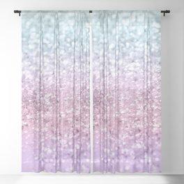 Unicorn Girls Glitter #4 #shiny #pastel #decor #art #society6 Sheer Curtain
