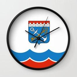 flag of Leningrad oblast Wall Clock