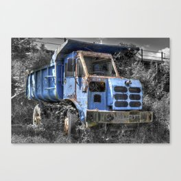 Old Tipper Truck Canvas Print