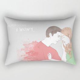 I won't. Rectangular Pillow