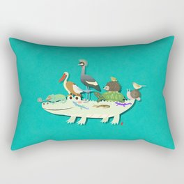 Crocodile Rectangular Pillow
