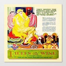 Vintage 1920's Film Advert Canvas Print