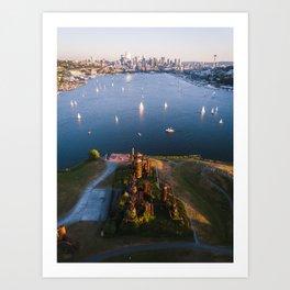 Gas Works and Lake Union Art Print