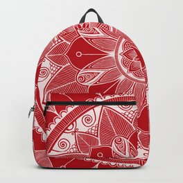 Holly Berry and White Mandala 4 Backpack