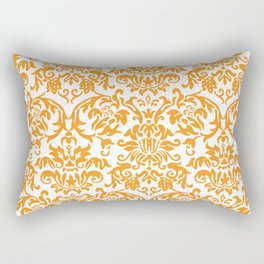 Elegant Damask Pattern (orange) Rectangular Pillow