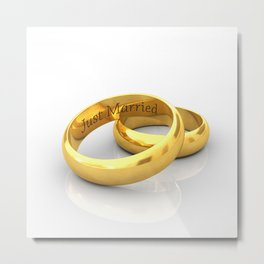 Just married Metal Print