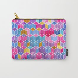 Watercolor Kaleidoscope. Mosaic. Carry-All Pouch
