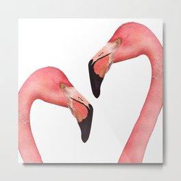 Watercolor Flamingo Metal Print