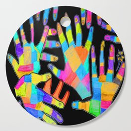 Hands of colors | Hands of light Cutting Board