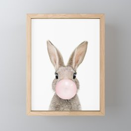 Bubble Gum Rabbit Framed Mini Art Print