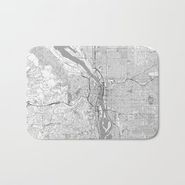 Portland City Map Line Bath Mat