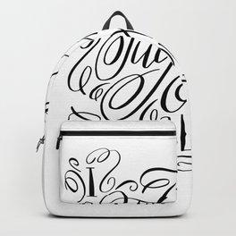 I fucking love you, calligraphy Backpack