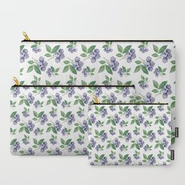 Watercolour blueberry pattern #s1 Carry-All Pouch