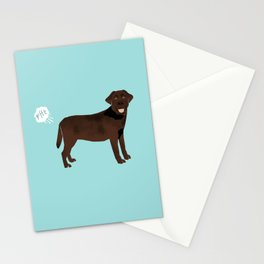 Chocolate Lab funny fart dog breed gifts labrador retrievers Stationery Cards