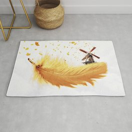 Air Feather • Yellow Feather (horizontal) Rug