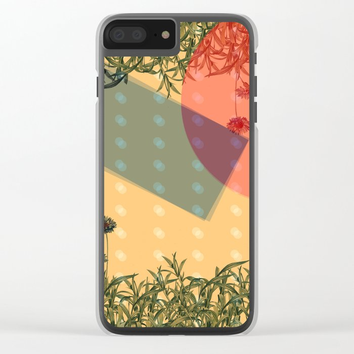 Plants 01 Clear iPhone Case