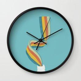 Reinbow Sweet Pastel Wall Clock