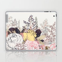 Miles and miles of rose garden. Retro floral pattern in vintag style Laptop & iPad Skin