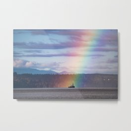 A Boat in the Rainbow Metal Print