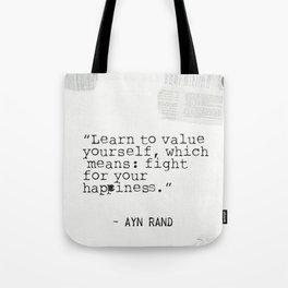 Ayn quote Tote Bag