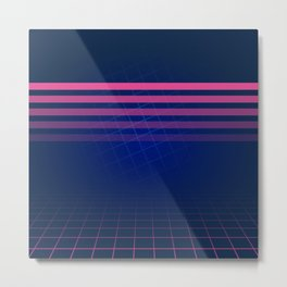 The Nostalgic Allure of Synthwave Metal Print